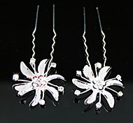 Rhinestones Bridal Pins/ Flowers,2 Pieces