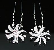 diamantes de imitación de novia pines / flores, 2 piezas