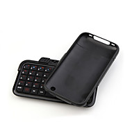 Rotate Mini Rechargeable Wireless Bluetooth Flip-Out QWERTY Keyboard with Plastic Case for iPhone 3G 3GS