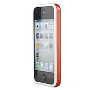Stylish Protective Bumper Infinite Loop Frame Case for iPhone 4 (White-Translucent Orange)