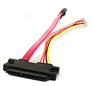 SATA 7+15P Female to SATA 7+4P Cable 0.18M