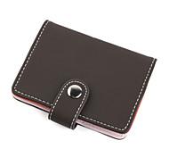 elegante funda de cuero de negocios tarjeta de caso (marrón)