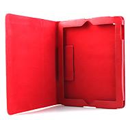 litchi grano delgado pu estuche de cuero y soporte para el iPad 2/3/4 - rojo
