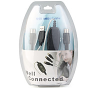 USB to MIDI Converter Cable 2M