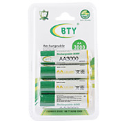 Piles Rechargeables BTY 3000mAh AA Ni-MH (4 Pièces)