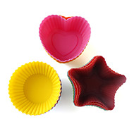 DIY Baking Silicone Cake/Muffin/Cupcake/Soap Cups Moulds (15-Pack)