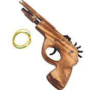 Classical Rubber Band Launcher Wooden Pistol Gun (Toy)