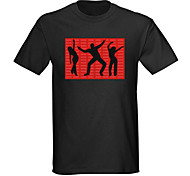 Sound and Music Activated EL Visualizer VU-Spectrum Dancer LED T-shirt (2*AAA)