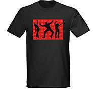 Sound und Musik aktiviert el Visualizer vu-Spektrum Tänzer führte T-Shirt (2 * aaa)