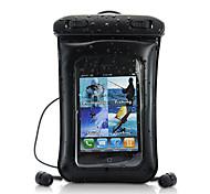 2-в-1 водонепроницаемый кожаный чехол с наушником для iphone, Ipod, андроид телефон, мобильные телефоны и mp4 / 3 игроков