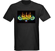 suono e la musica attivato spettro VU meter el visualizzatore portato t-shirt (4 * aaa)