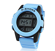 Men's Classic Digital LCD Rubber Sports Wristwatch