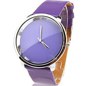 Modische Quarz-Armbanduhr mit lila PU Band