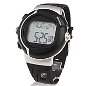 Unisex Sport Style Rubber Digital Automatic Wrist Watch (Black) Cool Watch Unique Watch