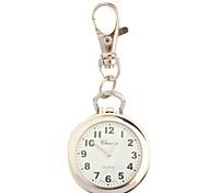 de acero inoxidable reloj de bolsillo con llavero