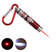 2 in 1 Red Laser LED Keychain - Red