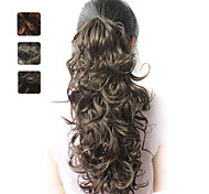 High Quality Synthetic 20 Inch Curly Ponytail Hairpiece 3 Colors Available
