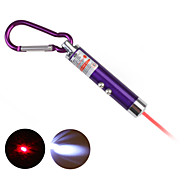 2 in 1 Red Laser LED Keychain - Purple