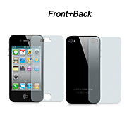 Front and Back Clear Screen Protector Full Body with Cleaning Cloth for iPhone 4/4S