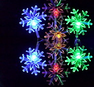 6m 3w 32-led buntes Licht Schneeflocke-förmigen String Märchen Lampe (110/220V)