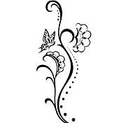 5 pz fiore tatuaggio temporaneo impermeabile (12,5 cm * 6,5 centimetri)