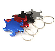 Tortoise Shaped Aluminum Keychain Bottle Opener (Random Color)