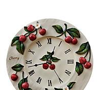 Cherry Resin Mute Wall Clock