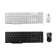 Rapoo 1800 Pro Wireless 2.4GHz Optical QWERTY Keyboard and Mouse (Assorted Colors)