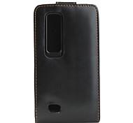 virar caso de couro capa bolsa vertical para lg optimus 3d P920 (preto)