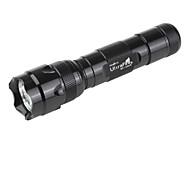 UltraFire WF-502B 5-el modo Cree XR-E Q5 llevó la linterna (230lm, 1x18650, negro)