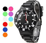 Unisex Quartz Analog Candy Color Plastic Band Wrist Watch (Assorted Colors)