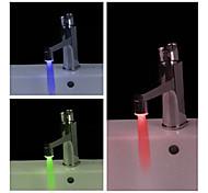 Handy Water Powered Bathroom LED Faucet Light (Plastic, Chrome Finish)