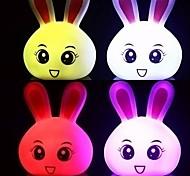 Lovely Bunny Shaped Colorful LED Night Light
