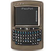 mini teclado sem fio ipazzport com controlo por voz (marrom)