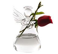 oração anjo vaso de flores estilo (transparente)