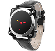 Unisex Red LED Pointer Style Black PU Band Digital Wrist Watch
