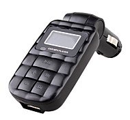 carro mp3 player (modulador fm, usb / tf / sd, controle remoto)