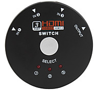 Mini 1080p switch de 4 puertos HDMI v1.3 (3-in-1 salida)