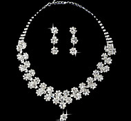 Beautiful Rhinestone Little Flower Ladies' Jewelry Set (45 cm)