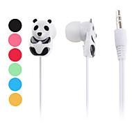 Ecouteurs Intra-Auriculaires Style Panda - Assortiment de Couleurs