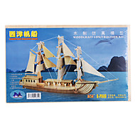 Wooden 3D European Sailing Boat Puzzle Toy