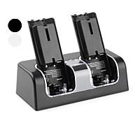 Dual USB estación de carga con 4 baterías recargables para Wii (2800mAh colores surtidos)