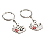 Hearts and Love Pattern Metal Couple Keychains (1 Pair)