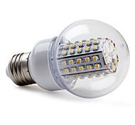 5W E26/E27 Bombillas LED de Globo G60 66 SMD 3528 430 lm Blanco Cálido AC 100-240 V