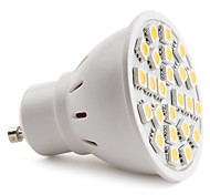 E14 / GU10 Spot LED MR16 24 SMD 5050 150 lm Blanc Chaud AC 100-240 V