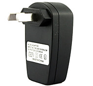 AU Plug USB AC DC Power Supply Wall Charger Adapter MP3 MP4 DV Charger (Black)