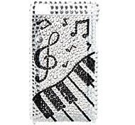 Musical Note Style Pearl Diamond Case for iTouch 4