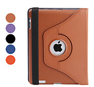 360 Degree Rotating Sleep & Wake-up PU Leather Case with Stand for iPad 3 (Assorted Colors)