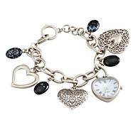 Damen Analog Quarz Armband Uhr (Silber)