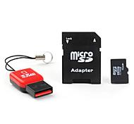 4GB Micro SD / TF карта памяти SDHC с USB MicroSD читатель и MicroSD адаптер (класс 4)